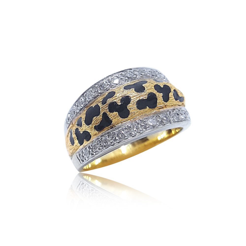 Unique Jewelry Design Cheetah Gold Ring in Miami Florida
