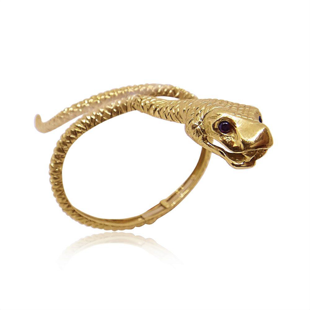 Unique Jewelry Gold Bracelet Snake Design in Miami Florida