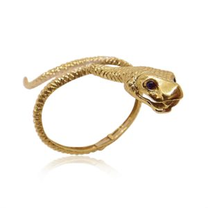 Unique Jewelry Gold Bracelet Snake Design in Miami Florida