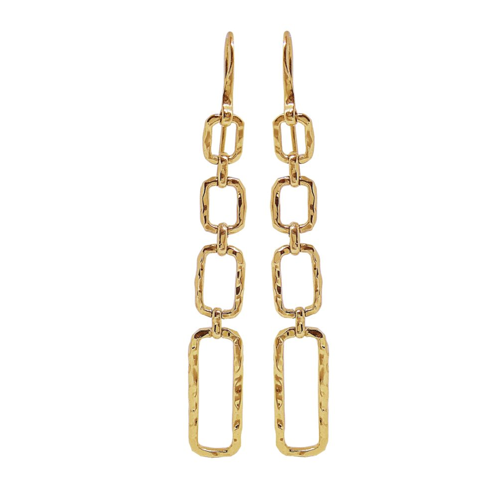Unique Jewelry Design Gold Earrings in Miami Florida